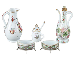 18th-Century-Czech-Republic-Bohemian-Opaline-Service-Set
