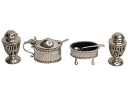 1920's-Charles-Stuart-Harris-4-Piece-Georgian-Style-Condiment-Set