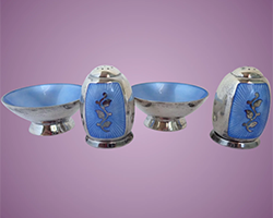 1960s-Volmer-Bahner-Sterling-Silver-Salt-Cellars-Pepper-Shakers