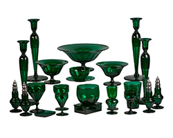 Late-19th-Century-English-Emerald-Green-Glass-Service