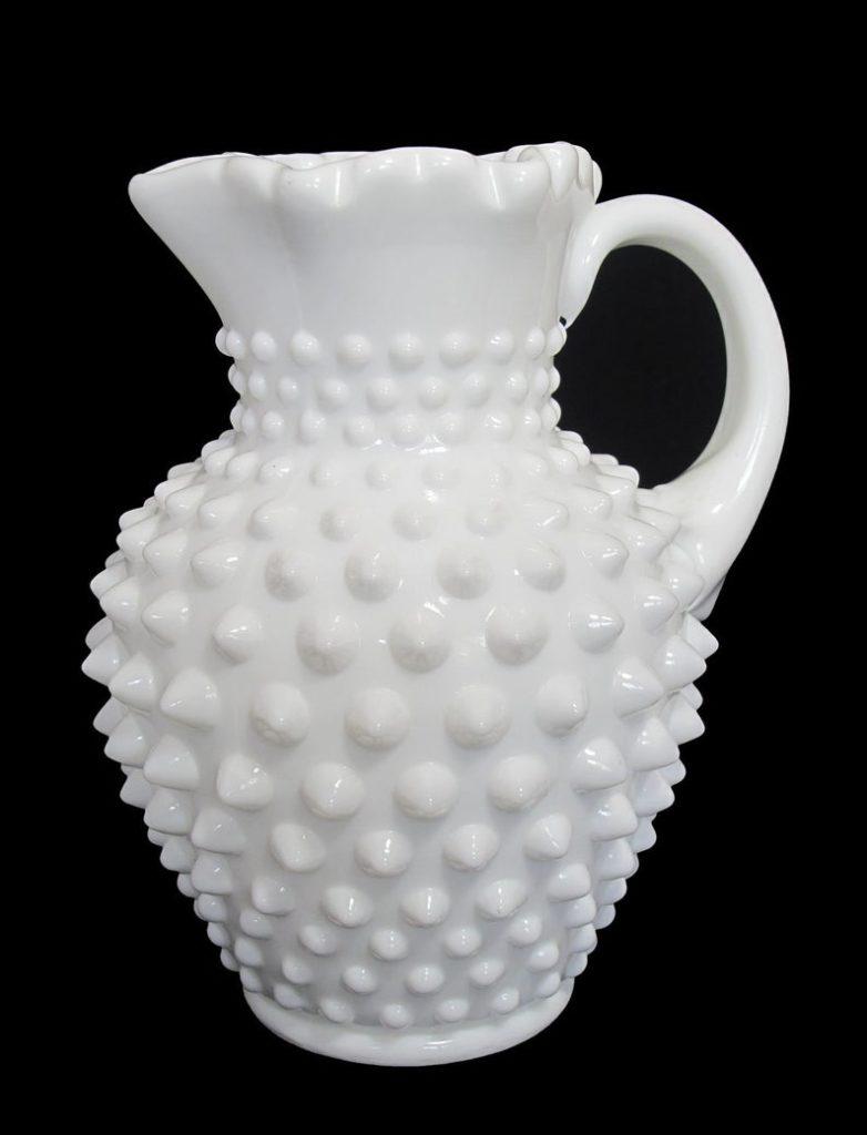 milk glass pitcher