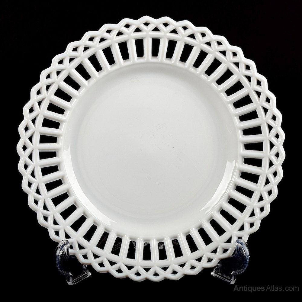 Decorative milk glass plate for How to Identify and Value Vintage Milk Glass