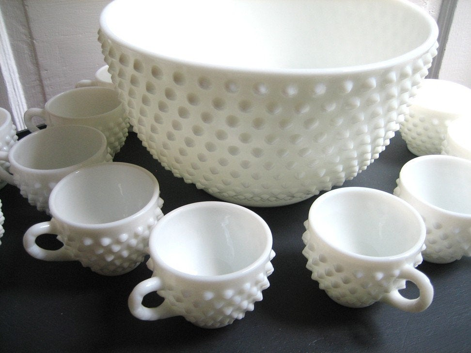 milk glass punch bowl for How to Identify and Value Vintage Milk Glass